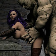 Voluptuous babes fucked by monsters