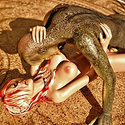 Elfin fucked by reptile monster