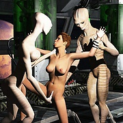 Lusty babes and aliens
