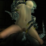 Tentacle and monster cock 3D XXX images