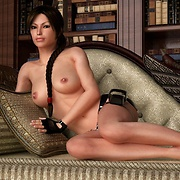 Naughty Lara Croft exposes her gorgeous body