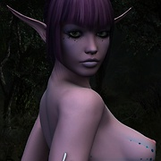 Girl walks through the misty forest naked pictures