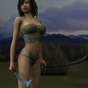 Hottest warrior girls undress