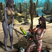 Hot fantasy and sci-fi 3D picture set